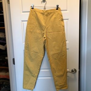 90's Vintage Smythe and Company 100% cotton high waisted pants made in Hong Kong